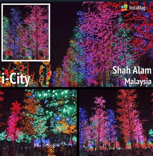 lampu led i-City Shah Alam