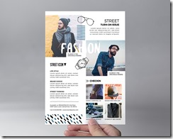 Plantilla para flyer-folleto de tienda fashion-moda masculina