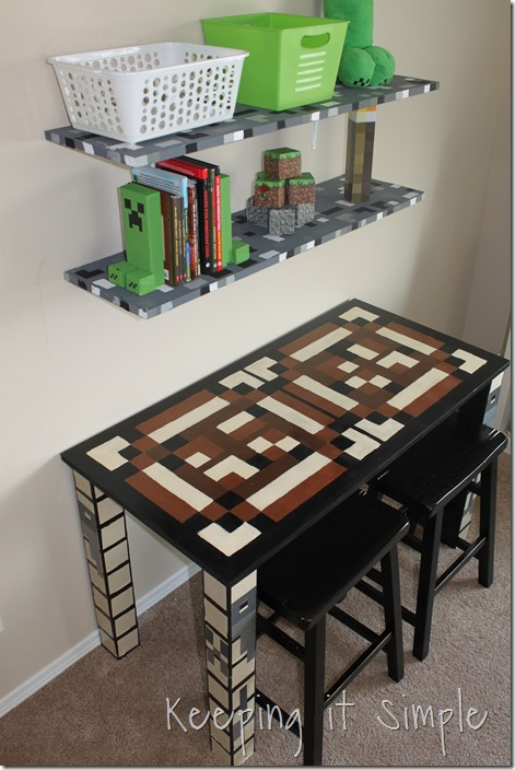 Minecraft wall art idea large wood minecraft characters keeping diy minecraft crafting table 36 solutioingenieria Images
