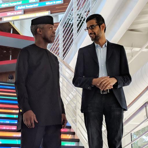 Osinbanjo visits Googleplex, Sundar Pichai Welcomes Osinbanjo, Google LaunchPad Acellerator
