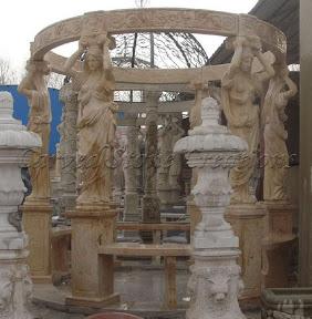 Exterior, Gazebo, Gazebos, Ideas, Landscape Decor, Natural Stone, Statue