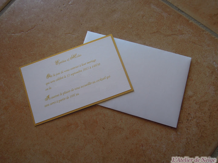 176 - Invitation Mariage  Cynthia et Nicolas 12 sept. 2015