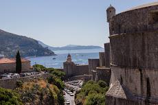 Massive walls of Dubrovnik.