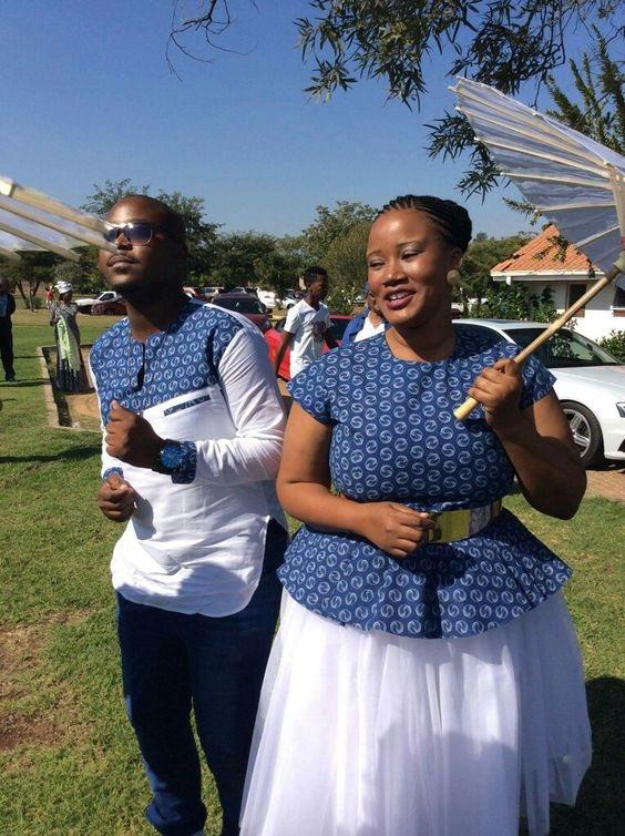 Latest Shweshwe Inspired Wedding Dresses