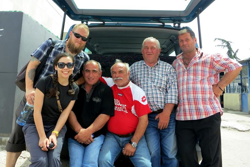 Marshrutka drivers in Tbilisi