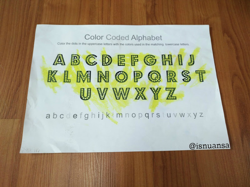 color coded alphabet