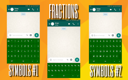 Math Symbols Keyboard app for Android screenshot