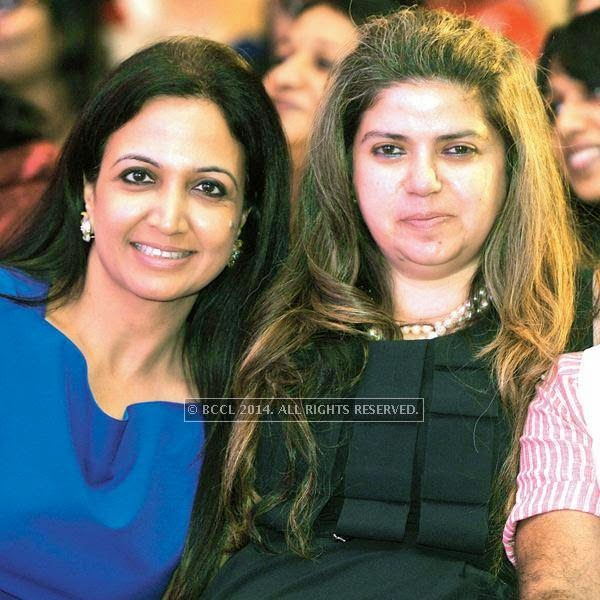 Suman Agarwal and Laleh Busheri during a Cancer campaign, held at JW Marriott, in Pune.<br />