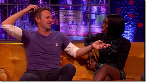 The Jonathan Ross show Coldplay Simon Pegg27