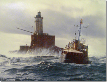Point St. George Lighthouse with CGC Blackhaw by MKC Roger S. Wright