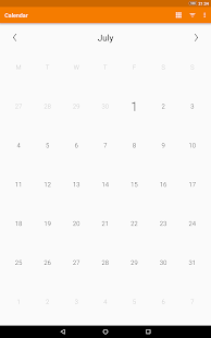 Schlichter Kalender Screenshot
