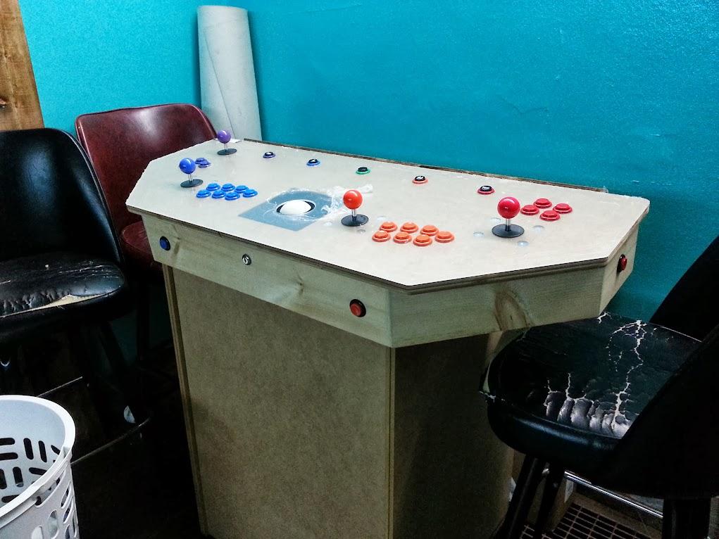 4 Player Tmnt Pedestal Cabinet Complete