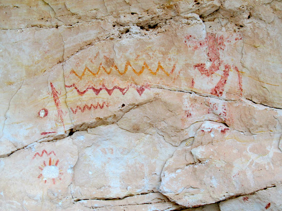 Lizard and other pictographs