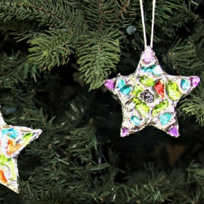 Embossed Foil Star Ornaments
