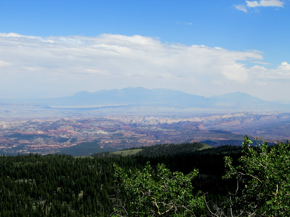 View over Capitol Reef toward the Henrys