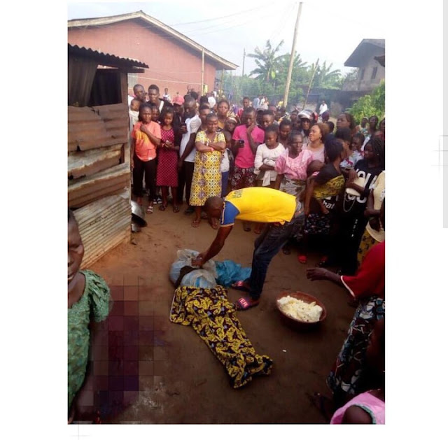 Ritualists Behead Lady In Delta, Harvest Her Vital Organs In Front Of Her House