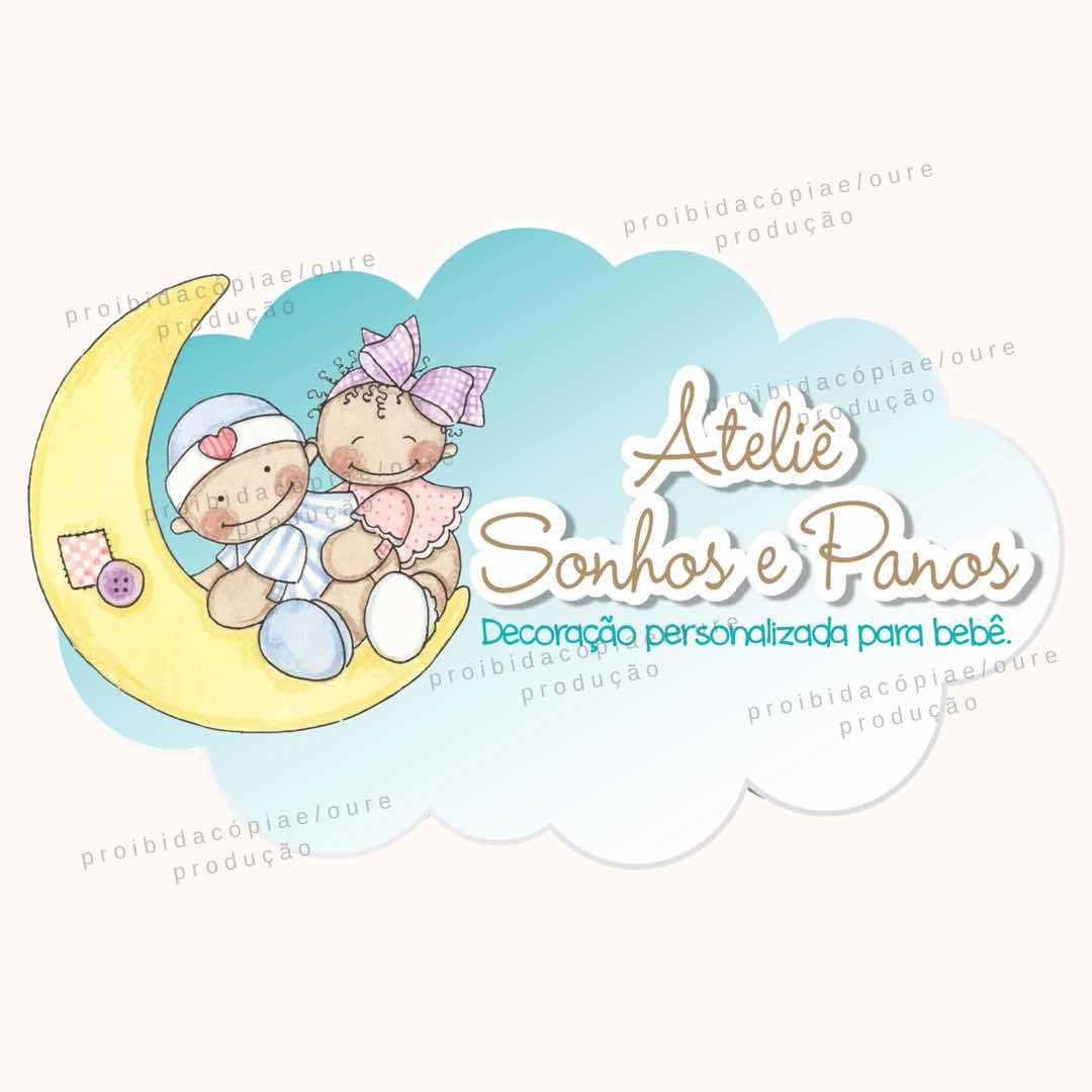 Logotipo Atelie Sonhos e Panos