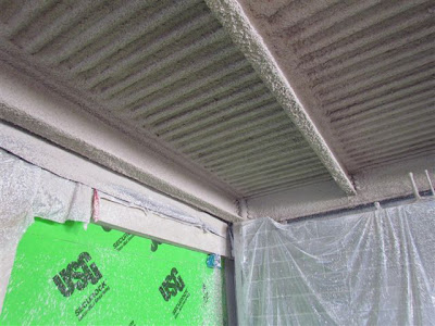 Fire resistant spray was applied to steel structures