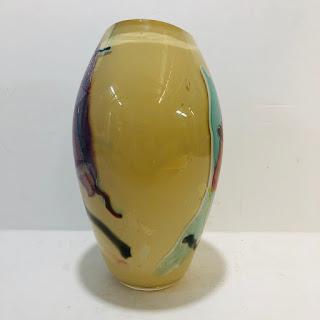 Signed Art Glass Vase 2