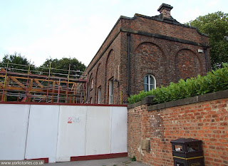 August 2013 - engine house development, with new extension under construction on the left