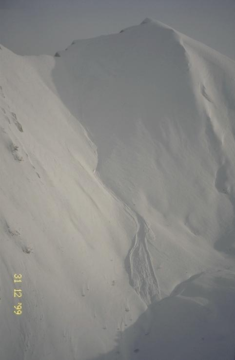 Avalanche Bauges, secteur Mont D'Armenaz, Face ouest - Photo 1