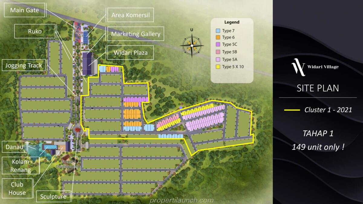 Siteplan Cluster Widari Village Cluster 1