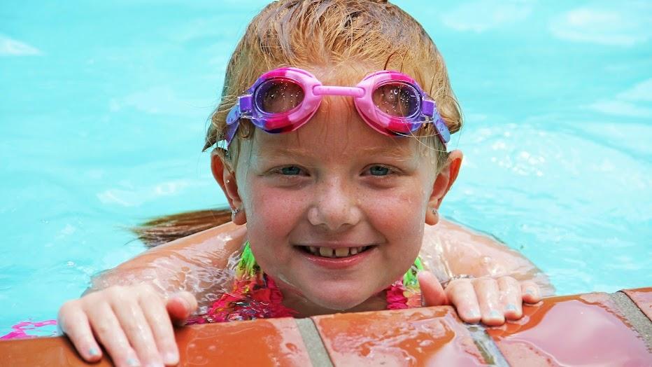 girl poolside