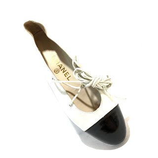 Chanel Black and White Ballet Flats