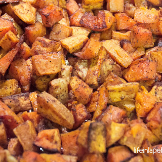 Roasted Cinnamon-Spiced Butternut Squash with Sweet Potatoes & Apples Recipe