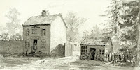 """The Three Horseshoes pub (now demolished) in Church Street, Little Shelford """"This public house stood by the side of Church Street. It belonged to the Brewer Headly of Great Shelford. The house was superfluous, there being five other public houses in Shelford Parva, namely the Checkers, the Prince Regent, the Waggon and Horses, the Plough and the Prince William. All these were more convenently situated and therefore had more regular customers for the beer they sold. In 1907 the county council took away the licence of the Three Horse shoes and it was bought by Mr Lockhart. He pulled it down and built a new red brick haitation on the same site."""" From A Record of Shelford Parva by Fanny Wale P45"""