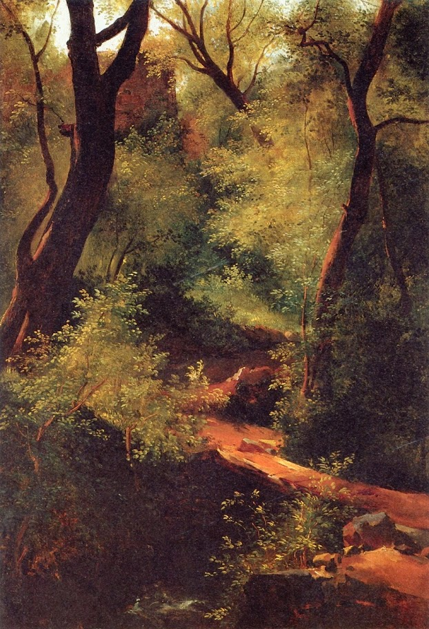 Théodore Rousseau - The Little Bridge in the Forest