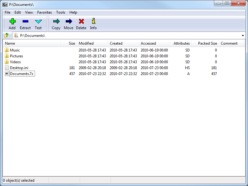 Screenshot of 7-Zip v.9.22 Beta (32-bit & 64-bit) Compression & Archive Tools PC Software Free Download at Alldownloads4u.Com