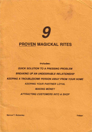 Nine Proven Magical Rites by Marcus Bottomley