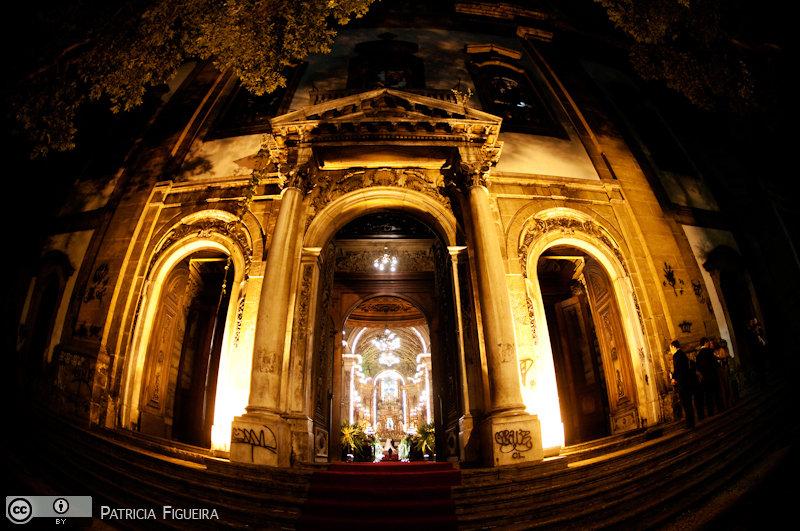 Foto de casamento 2729 de Renata e Cristiano. Marcações: 28/08/2010, Casamento Renata e Cristiano, Igreja, Igreja Sao Francisco de Paula, Rio de Janeiro.