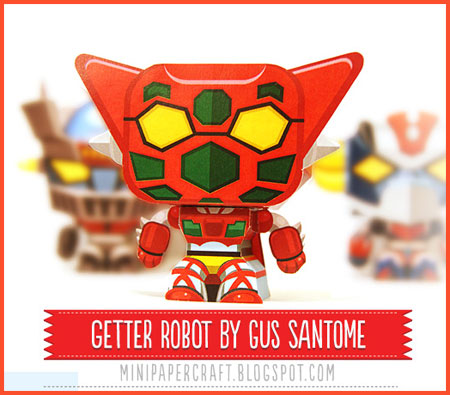 Mini Getter Robo Paper Toy