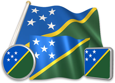 Solomon Island flag animated gif collection