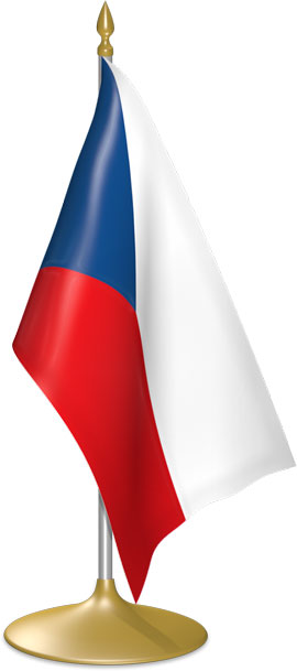 Czech table flags - desk flags
