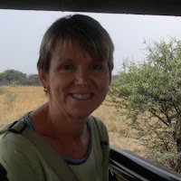 Tish on the Game Drive at the Khama Rhino Sanctuary