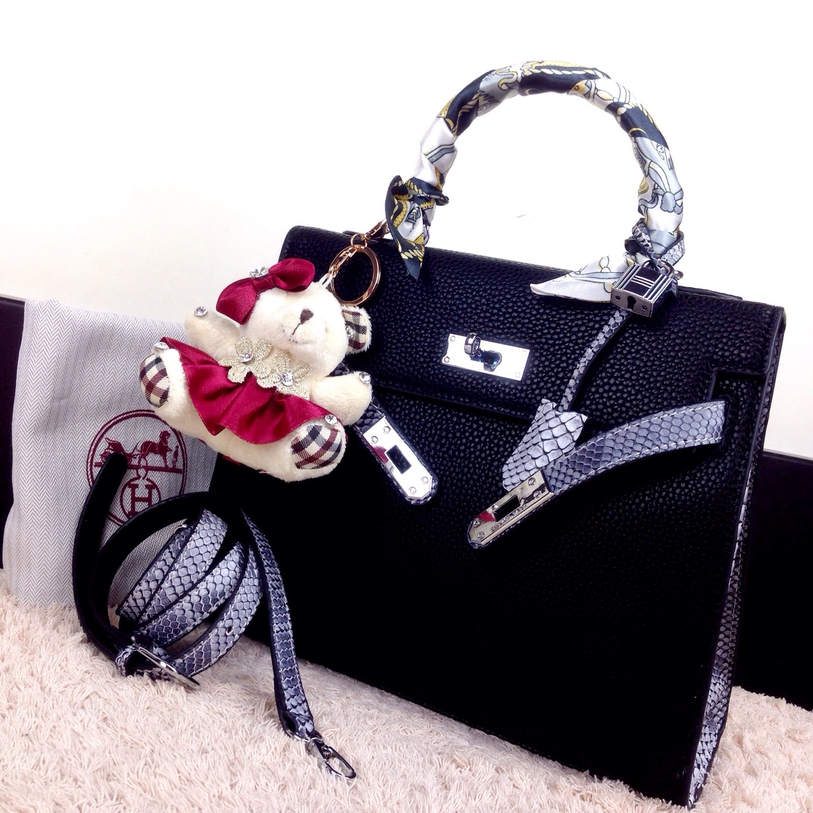 ... new style ready stock new arrival hermes kelly togo combination lizard  shw k28x22x10cm harga 460rb 2273 97fd8045ce