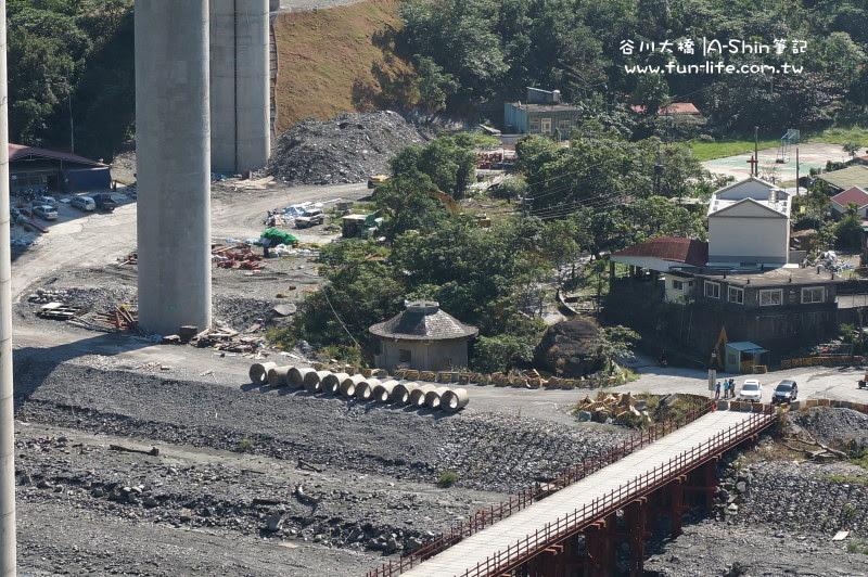 谷川大橋下有一圓頂房屋是88水災見證
