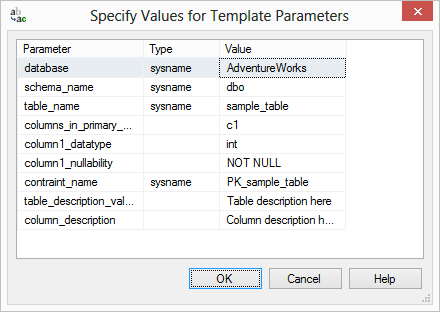 Specify Values for Template Parameters