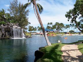 Ocean-fed lagoon, Hilton Waikoloa Village