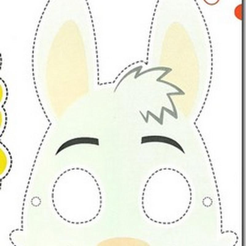 máscara de conejo para imprimir y recortar