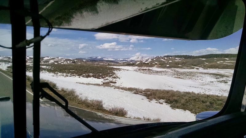 truckers picture of snow-covered field