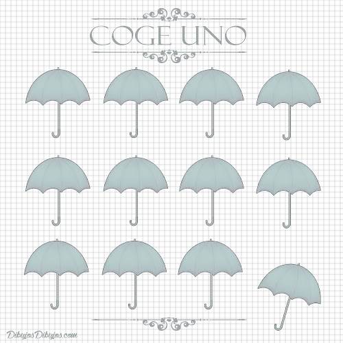 Coge un paraguas.
