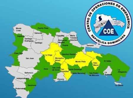 El COE amplía a 17 las provincias en alerta por vaguada