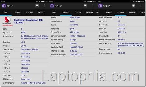 CPU-Z Xiaomi Mi 4c
