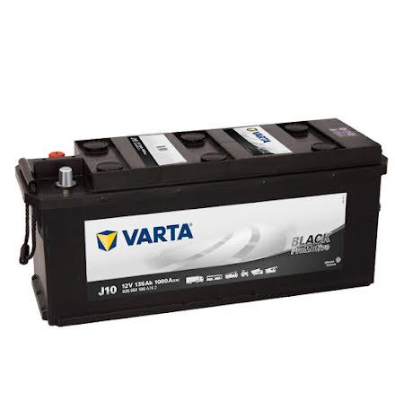 Bilbatteri 12V 135 Ah Varta J10 LxBxH=480/514x175x210mm PRO black HD135 635052100 A742