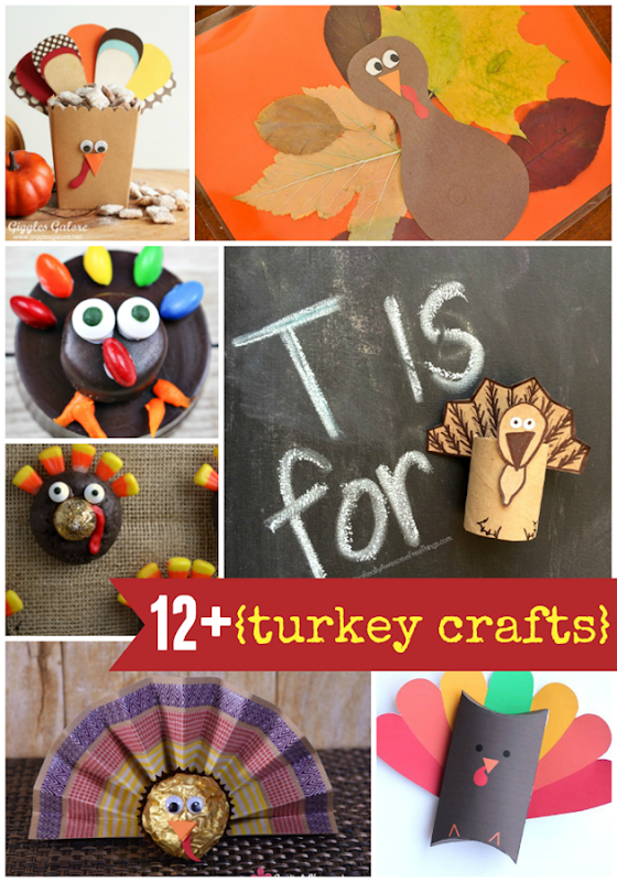 12  Turkey Crafts at GingerSnapCrafts.com #turkey #turkeycrafts #crafts