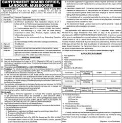 Cantonment Board Landour Mussoorie Jobs 2016